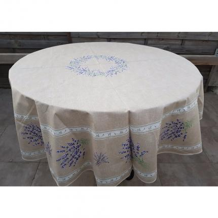 Valensole nappe ronde beige