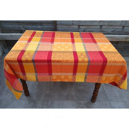 Nappe rectangle Valescure rouge