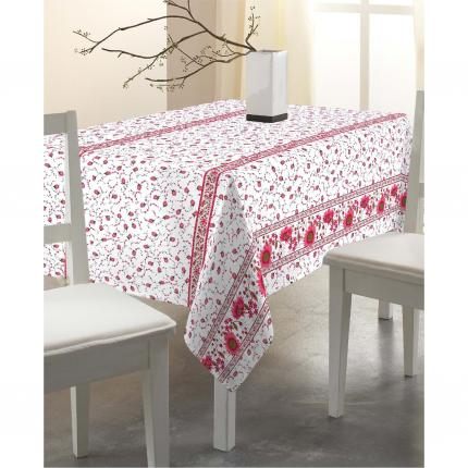 Nappe rectangulaire rose tournesol