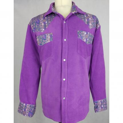 chemise hiver camarguaise  violet